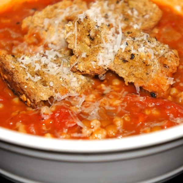 Roasted Tomato Soup with Lentils and Steel-Cut Oats