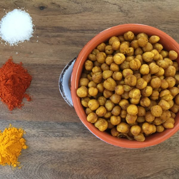 Baked Curried Chickpeas