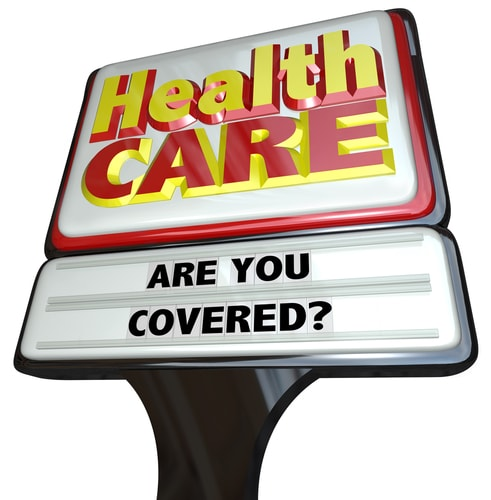 Health care coverage logo.