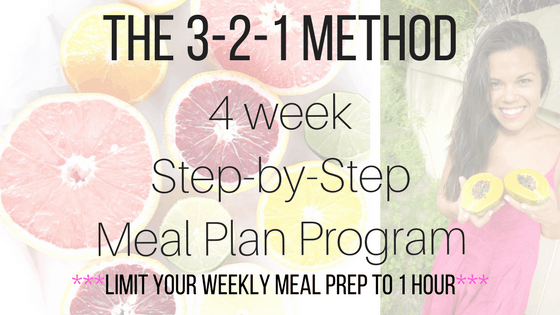 Join the 3-2-1 Method 4 week Meal Plan Program!