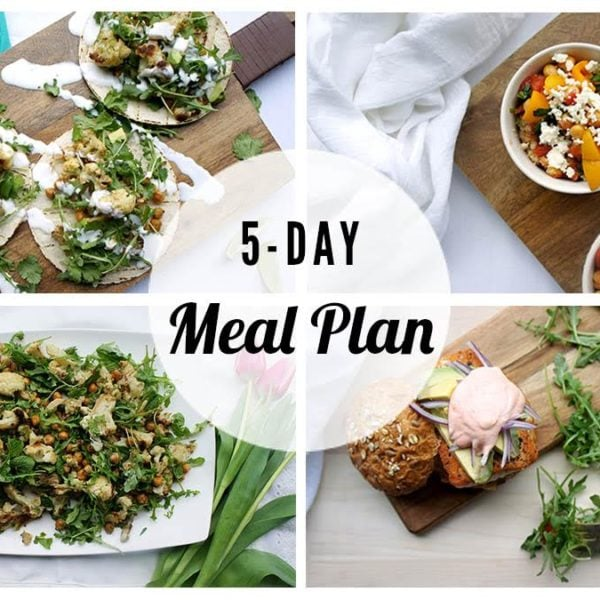 Free 5 Day Meal Plan