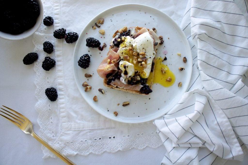 blackberry toast for blog