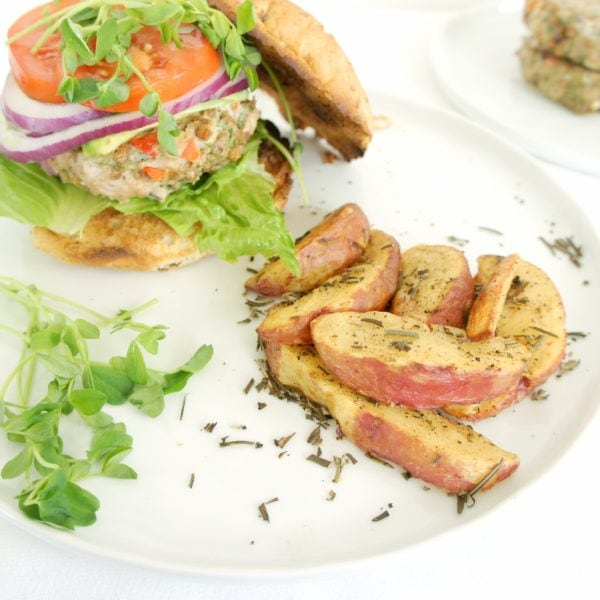 Juicy Greek Turkey Burgers
