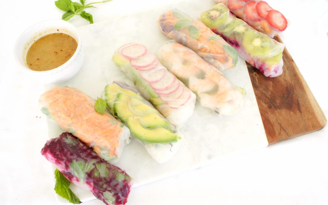 Summer Rolls with Easy Peanut Dipping Sauce