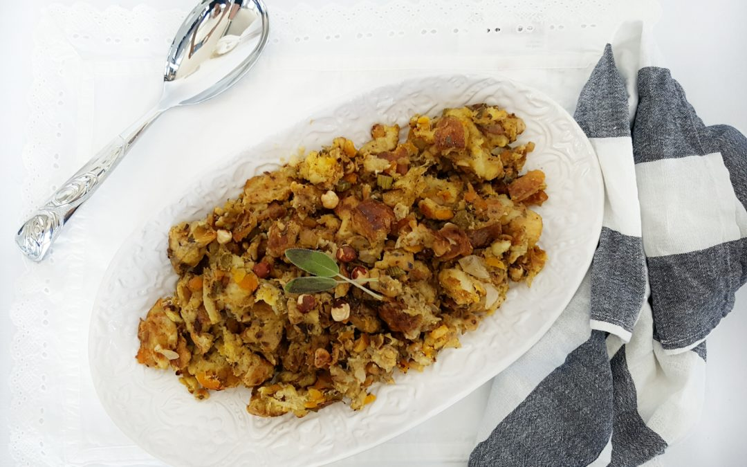 Sage and Apricot Sourdough Stuffing