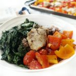 One Pan Greek Chicken with Blistered Tomatoes and Peppers