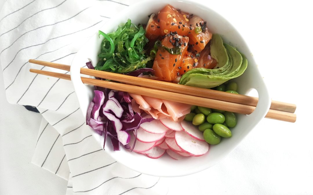 5 Steps To The Perfect Poke Bowl + Hawaiian Salmon Poke Bowl Recipe