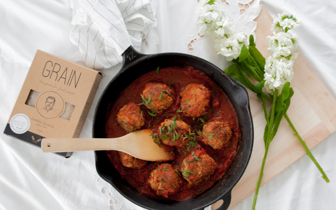 Juicy Skillet Turkey Meatballs