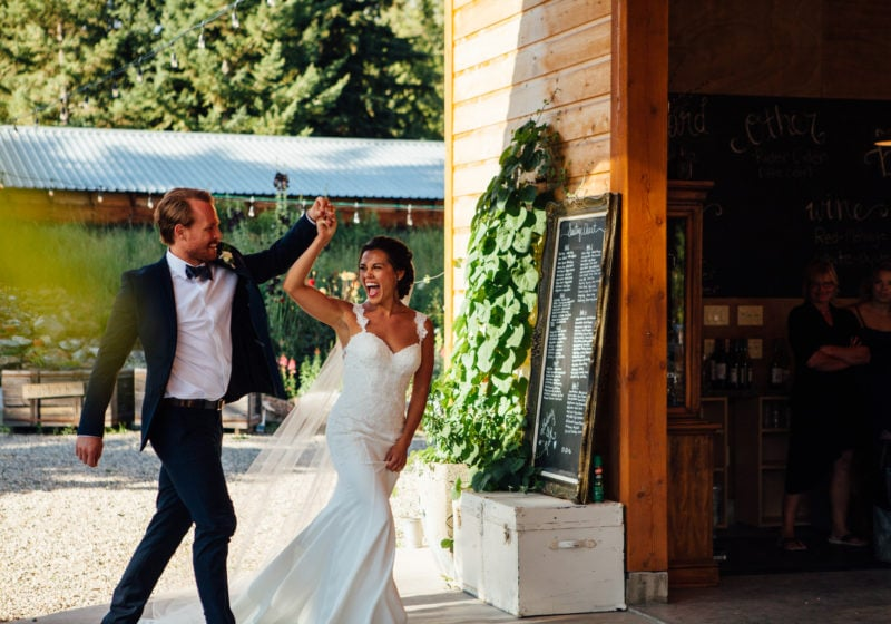 Registered Dietitian Lindsay Pleskot and her husband Meik on their wedding day.