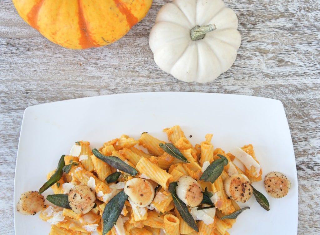 Image of Healthy Creamy Pumpkin Sage Pasta a recipe in the Healthy Pumpkin Recipes Roundup