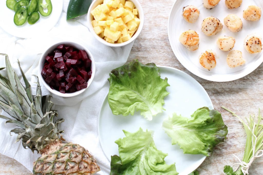 Refreshing Scallop Bites with Pineapple Beet Salsa