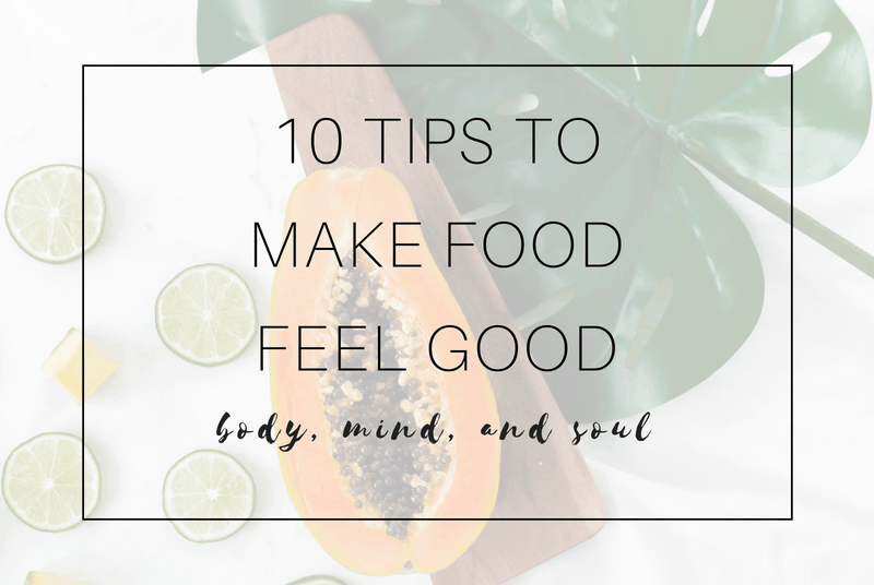 download your checklist to make food feel good