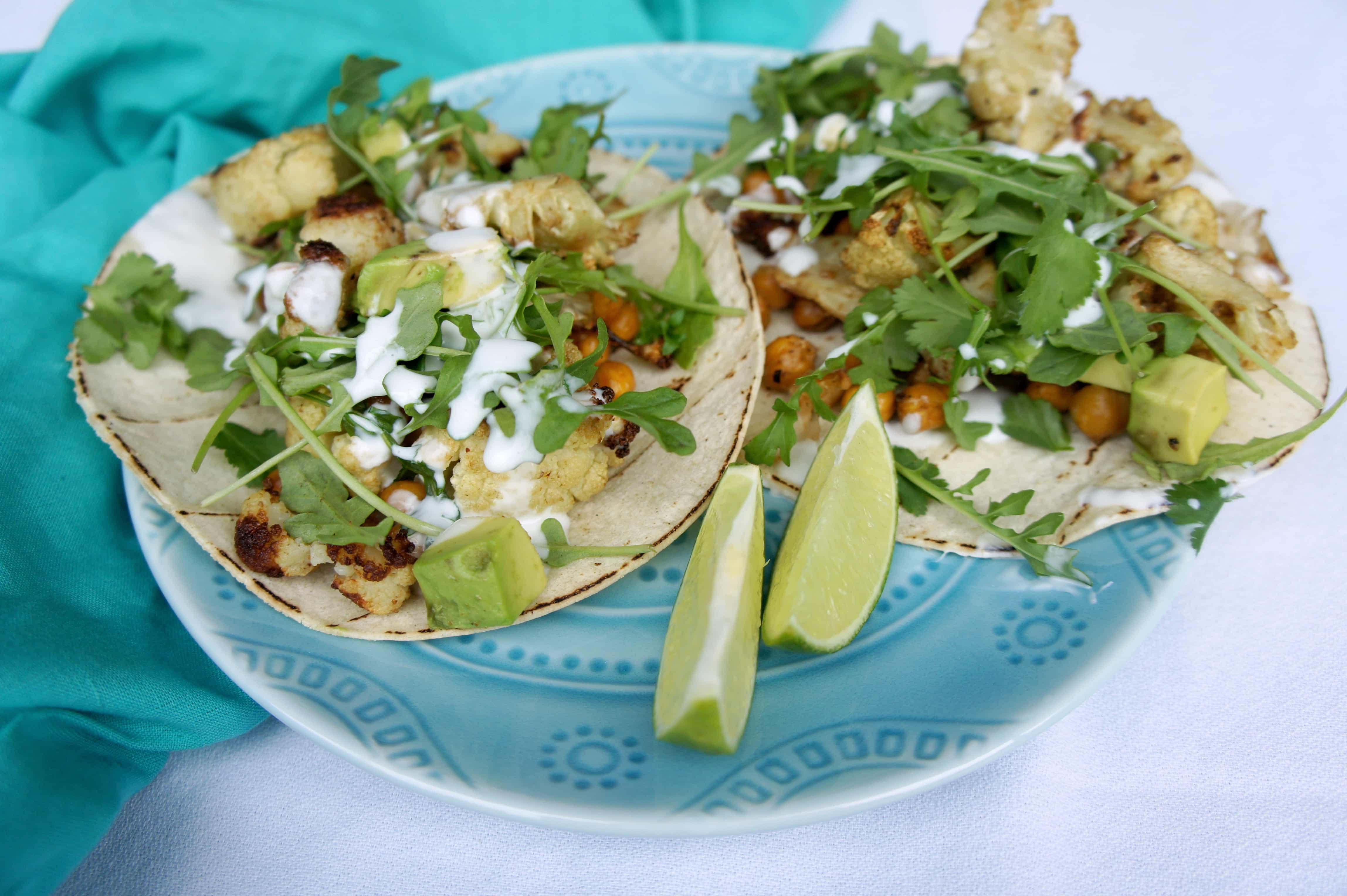 Cauliflower Chickpea Tacos