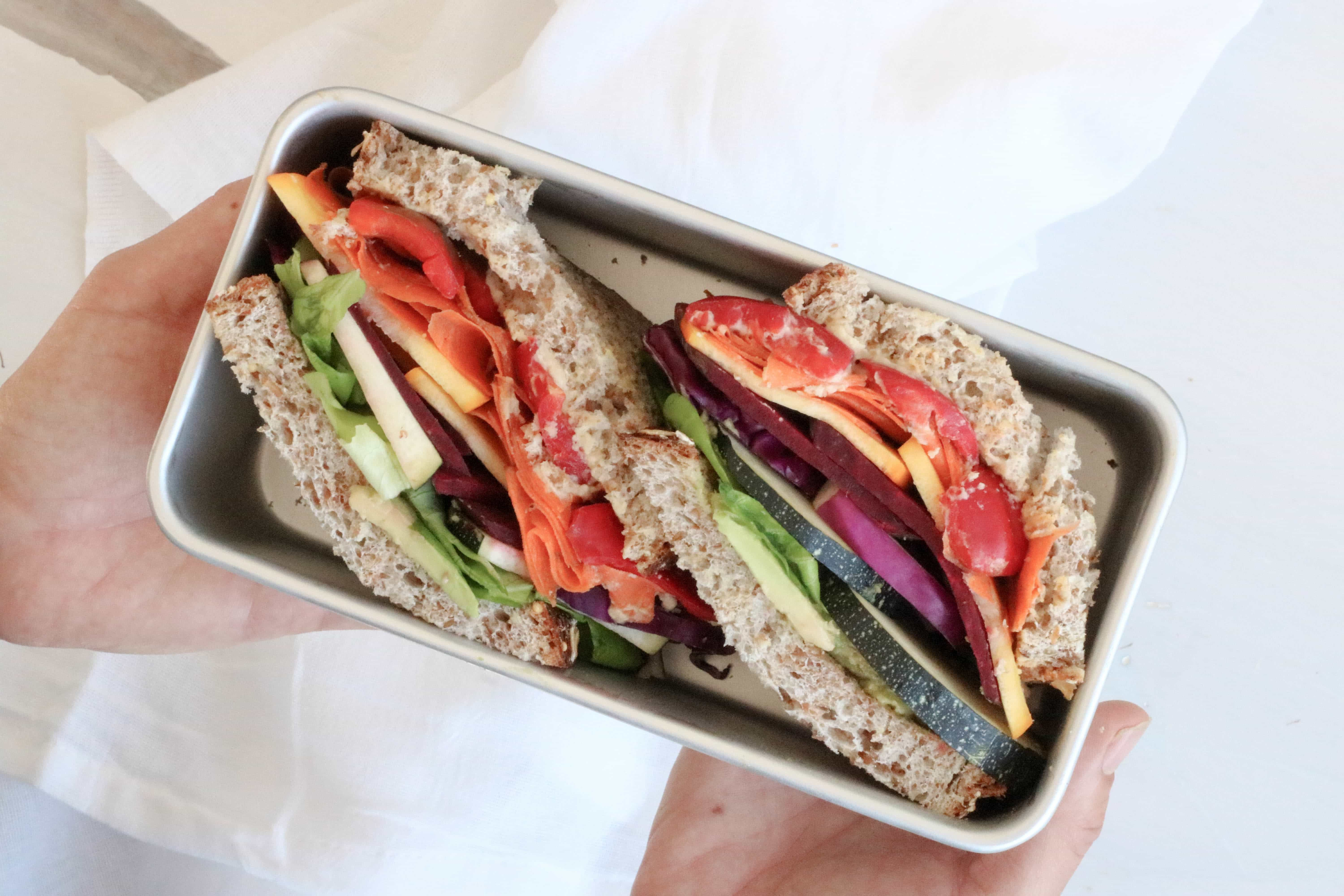Lindsay Pleskot Rainbow Power Sandwich For Easy Work And School Lunches