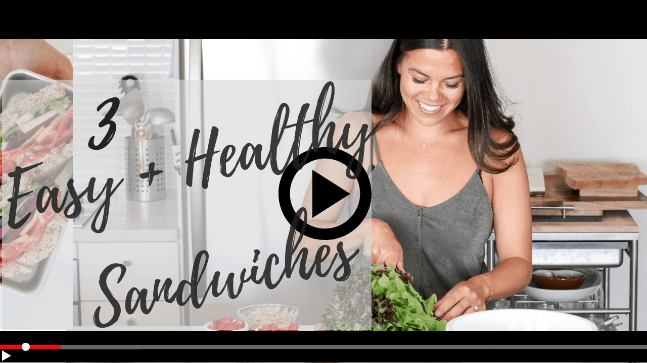 Lindsay Pleskot Healthy Sandwich Ideas for Work and School Lunches YouTube