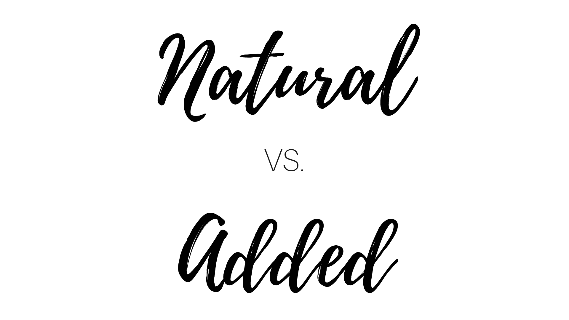 What's the difference between natural and added sugar?