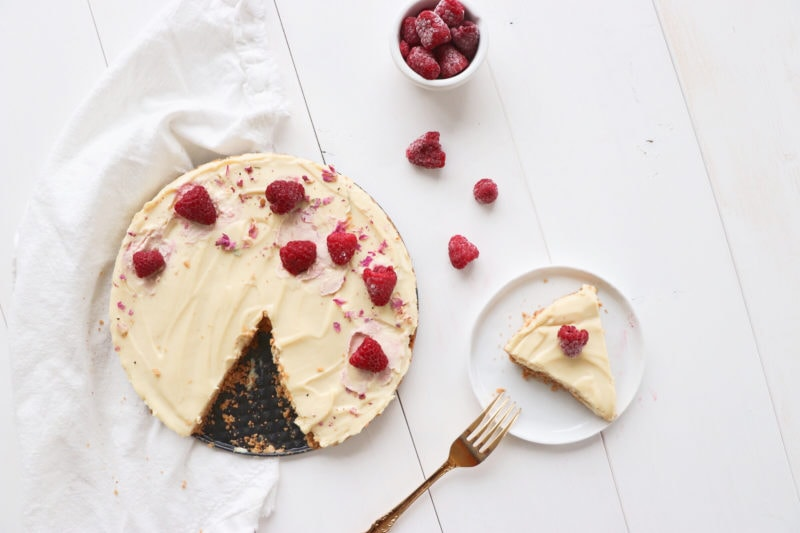 Healthy No Bake White Chocolate Tart