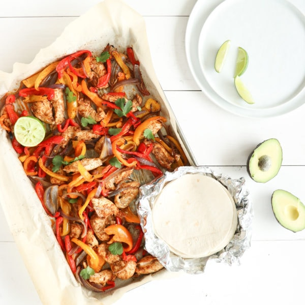 Easy Sheet-Pan Chicken Fajitas (plus seasoning!)
