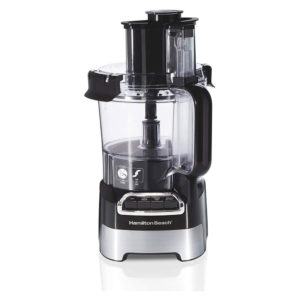 Food processor on white background