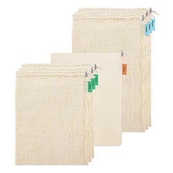 Reusable Produce Bags with a white background